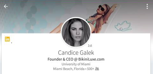 Candice Galek Founder and CEO of BikiniLuxe